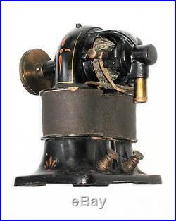 Paint Decorated c1885 Antique WESTERN ELECTRIC G-1 Model BIPOLAR Electric Motor