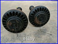 Pair 1920's Antique General Electric Model 44986 Ceiling Fans 52