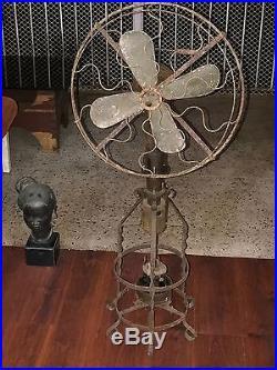 Pre Electric Hot Air Fan Lake Breeze Motor Antique Kerosene Stirling Engine