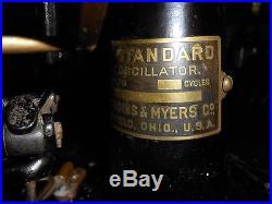 Rare Antique Brass Fan Robbins And Meyers The Standard Lollipop Fan
