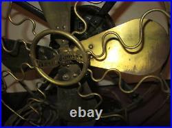 RARE! Antique 1909 Westinghouse Oscillating Brass VANE Electric Fan, unrestored