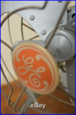 RARE Antique Industrial Art Deco GE Vortalex Floor Model Oscillating Fan