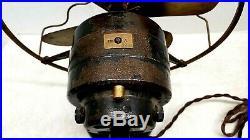 RARE Antique Vintage Electric Fan KNAPP 10 Brass Blade & Cage Tab ca. 1915