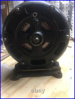 RARE Early Electric Fan Pancake Motor Antique Holtzer Cabot Co USA