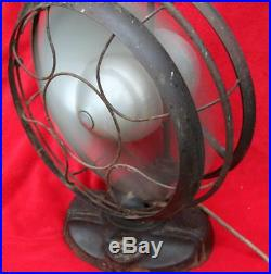 Rare! Antique Emerson 12 Silver Swan Electric Oscillating Fan Art Deco