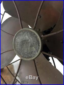 Rare Antique Emerson Floor Fan Art-deco Base. Adjustable. Works