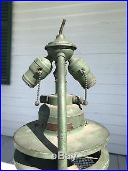 Rare Antique General Electric 1903 Direct Current Fan Bankers Lamp Light Signed
