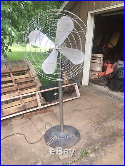 Rare Antique Industrial Robbins & Myers Floor Fan With Art Deco 1940s