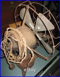 Rare Antique Iron Electric Fan The Standard Robbins Meyers J51229