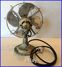 Rare Antique Vintage Limit Table Fan Made In England Model No. J8 55