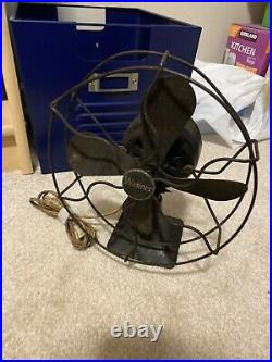 Rare Vintage Antique Wagner Circular Fan Oscilating Ae 10 Works Great