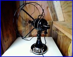 Restored Antique 16 Emerson D. C. Oscillator Fan