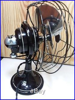 Restored Antique 8 1/2 Ge Oscillation Fan