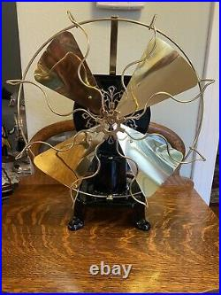 Restored CT Fardwell 12 Brass Blade And Cage Water Fan. Rare Fan
