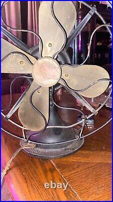 Robbins & Myers Fan Brass Blades Model 2110 vintage antique fan 1920's rare R&M