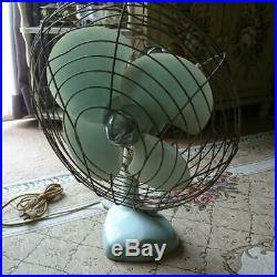 Showa Retro POP Electric oscillating Fan Toshiba Antique Vintage H50 W40