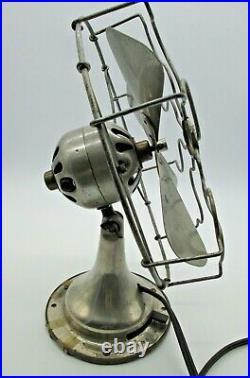 Star Rite 20s Desk Fan FitzGerald MFG. Vintage Antique Metal 13 tall Working