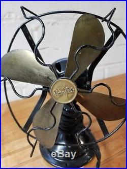 Star-Rite Nickel Plated Brush Motor Antique Fan