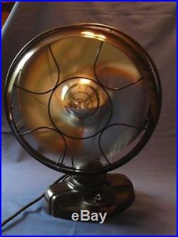 The model 5460 Emerson Silver Swan 12 Fan works great, looks fabulous