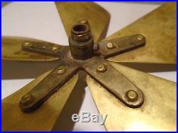 Unusual vintage 5 Blade 7 Brass FAN BLADE, mini, antique rare