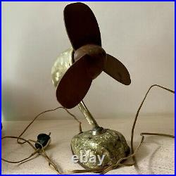 VINTAGE Electric Fan Streamline Mid Century 1950s Atomic Home Decor Collectible