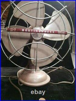VINTAGE WESTINGHOUSE ART DECO 4 BLADE CAT. #10 LA 4 ELECTRIC FAN 1950's
