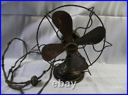 VINTAGE WINCHESTER ELECTRIC 9 SMALL BLACK FAN with WIRE CAGE #408A! RARE FIND