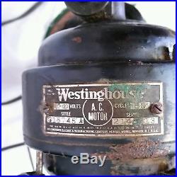 VTG Westinghouse Oscillating Fan 315745 A Electric 4 Blade Antique Art Deco MCM
