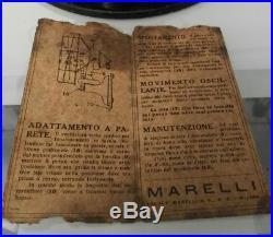 Ventilatore MARELLI BISA old electric fan antique desk tavolo parete molto raro