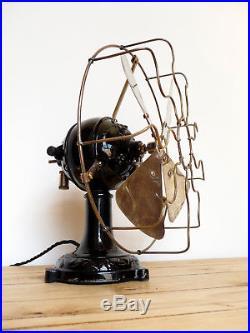 Ventilatore Marelli antico vintage Eolo old antique electric fan restored deco