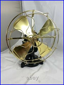 Very Nice 1897 Restored 12 Western Electric Brass Blade And Cage Bipolar Fan