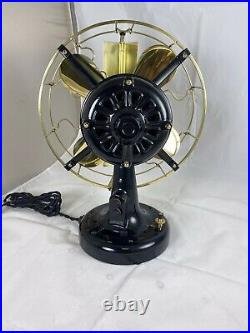 Very Nice Fully Restored 12 Westinghouse Brass Blade And Cage Vane Fan