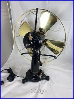 Very Nice Fully Restored DC 16 Western Electric Brass Blade Cage Lollipop Fan