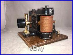 Very Nice Fully Restored Manchester Design Bipolar Motor From The 1890s