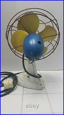 Very Rare VINTAGE Antique Fasco Industries Fan 10 Arctic Aire Desk Fan Works