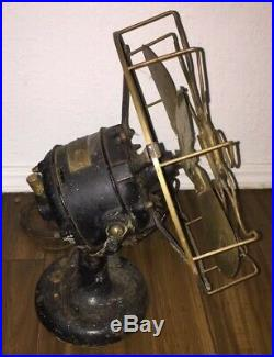 Vintage 1910-1911 Westinghouse Brass 12 Fan Blade Cage 60677 Electric Antique