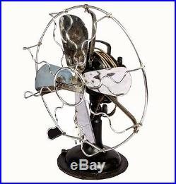 Vintage 1920's Antique Home Decor Industrial Metal Marelli Table Fan HB 078