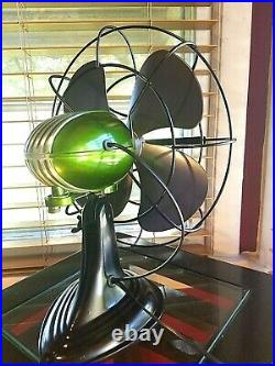 Vintage 1950's Westinghouse Electric Fan Art Deco, Candy Green, Refurbished