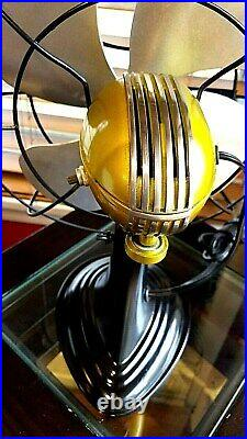 Vintage 1950's Westinghouse Electric Fan Art Deco, Candy Yellow, Refurbished