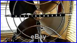 Vintage 1950's Westinghouse Electric Fan Art Deco, Chartreuse color, Refurbished