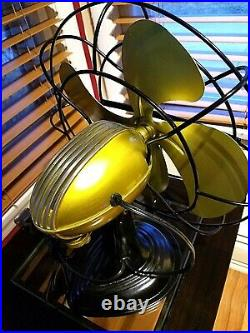 Vintage 1950's Westinghouse Electric Fan Art Deco, Electric Yellow, Refurbished