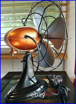 Vintage 1950's Westinghouse Electric Fan Art Deco, Hard Candy Orange, Refurbished