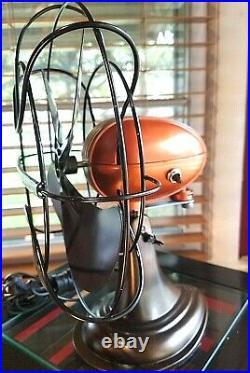 Vintage 1950's Westinghouse Electric Fan Art Deco, Pearl Orange Refurbished
