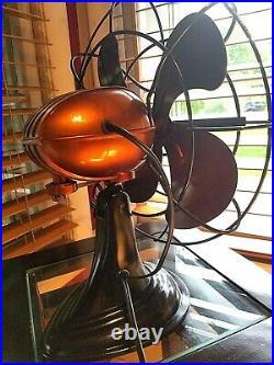 Vintage 1950's Westinghouse Electric Fan Art Deco, Root beer, Refurbished