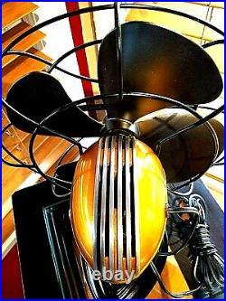 Vintage 1950's Westinghouse Electric Fan Art Deco, Tangerine, Refurbished