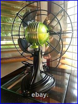 Vintage 1950's Westinghouse Electric Fan, Lemon Lime Color, Refurbished