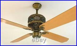 Vintage 1985 Casablanca Fan Company Commodor Vanderbilt Ceiling fan Intellitouch