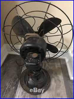 Vintage Antique 1920's Robbins & Myers 14 Small Blade Fan
