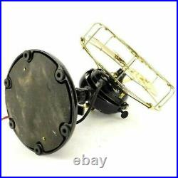 Vintage Antique Brass Blade and Cage Guard Fort Wayne Stationary Electric Fan