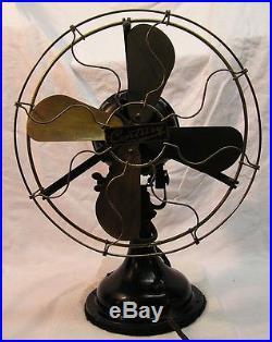 Vintage Antique Century 12 Brass Blade Electric Fan